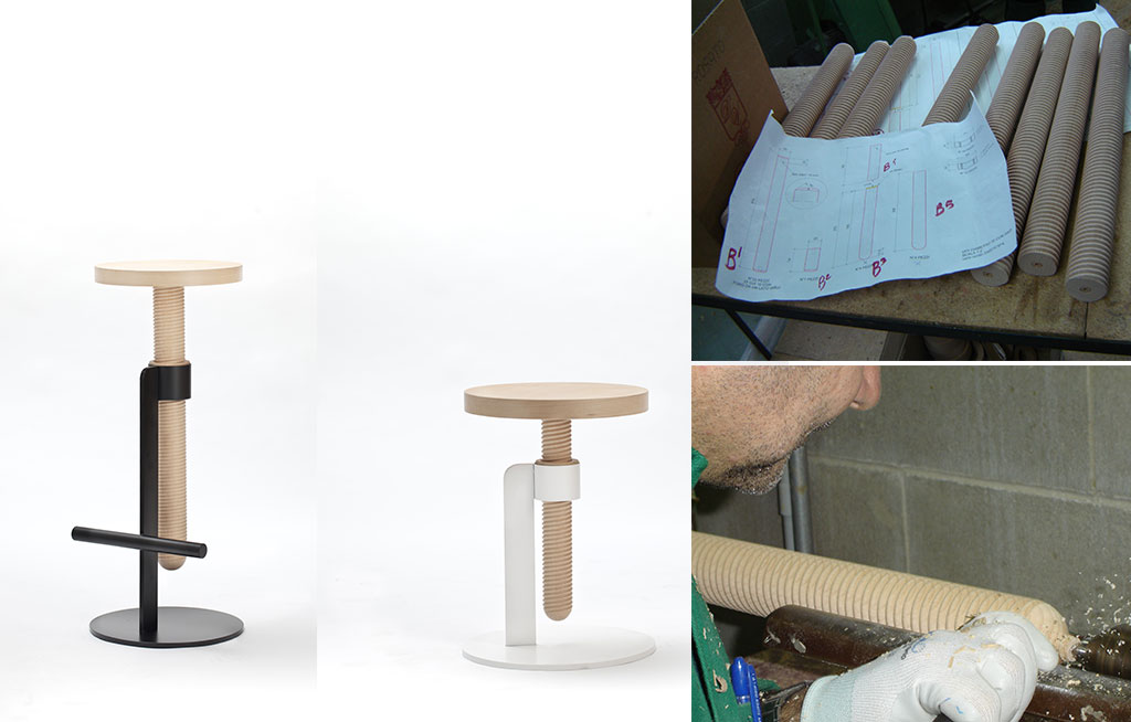 sgabello design legno