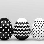 uova pasqua bianco e nero