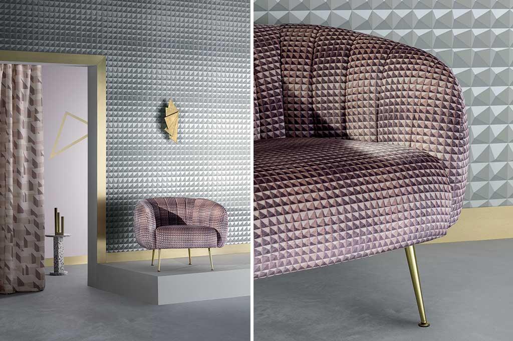 tessuto rivestimento divano design