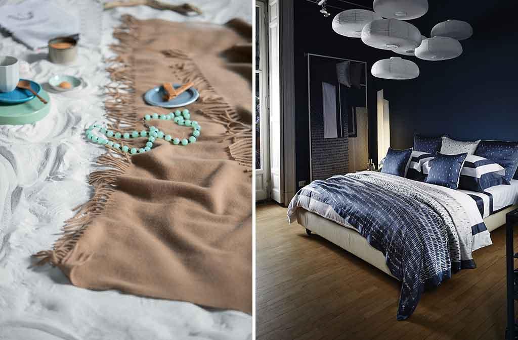 copertina colorata camera da letto