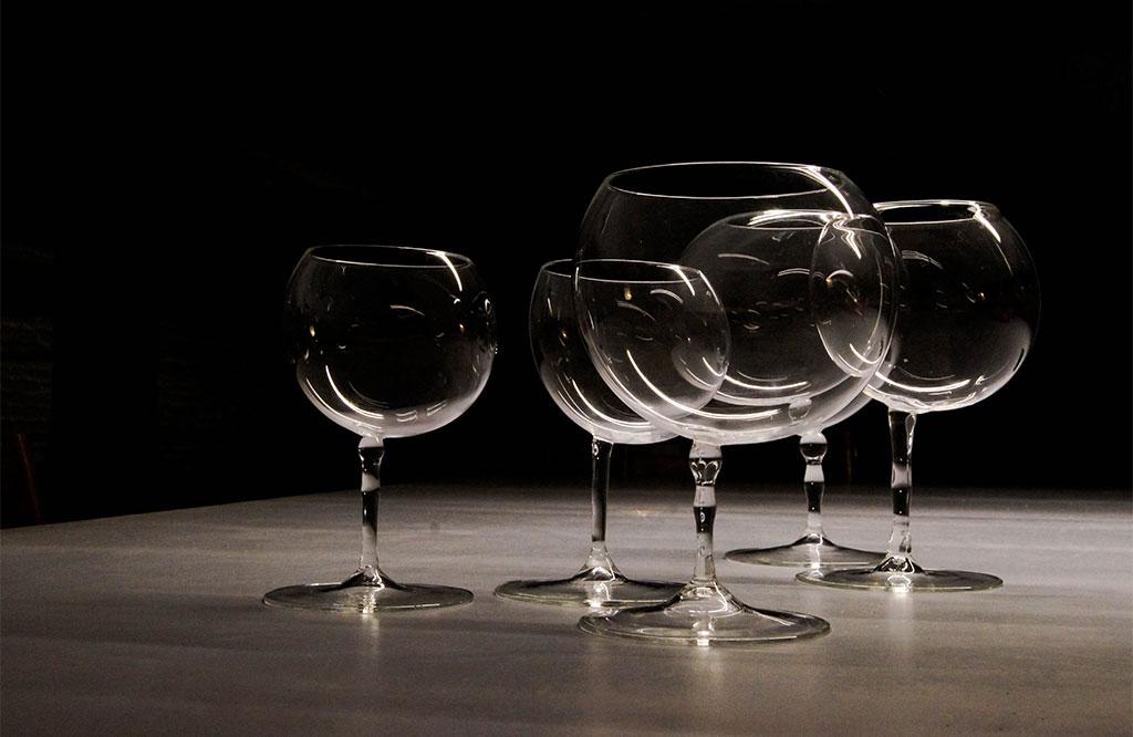 bicchieri cristallo di design