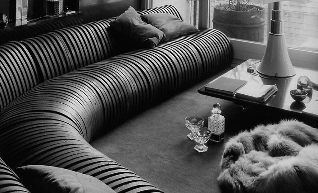 divano modello serpentone by cini boeri design