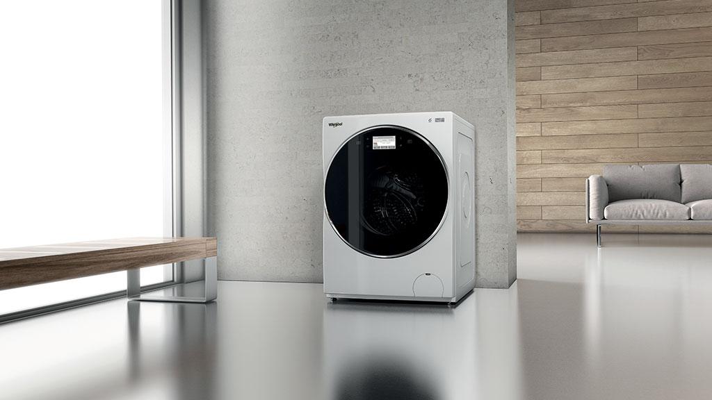 lavatrice posizionata in soggiorno