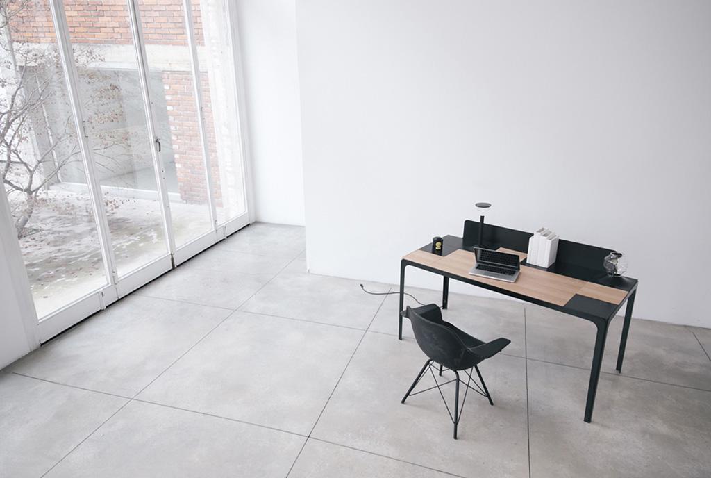 scrivania in legno modulare