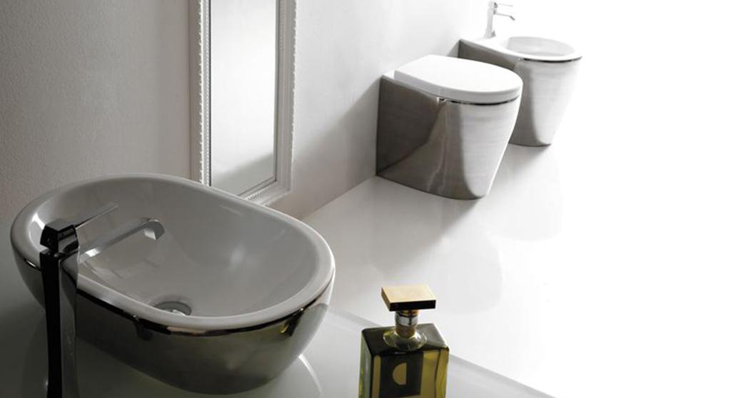 lavabo e sanitari moderni sospesi colorati