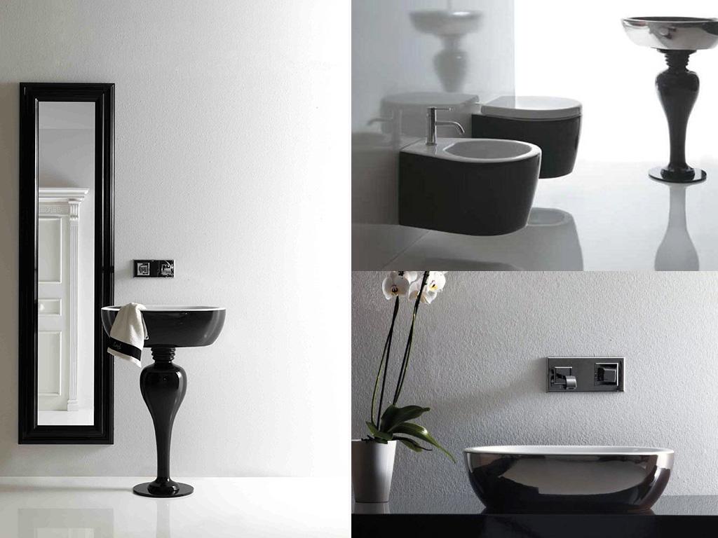 bagno moderno sanitari colorati
