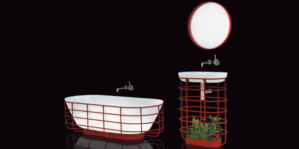 vasca da bagno e lavabo di design