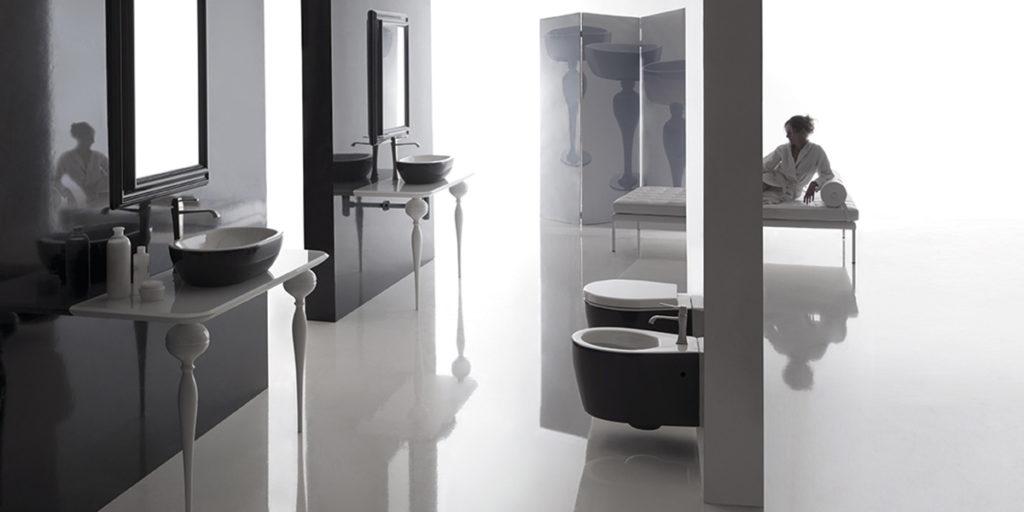 vista di un bagno classico casa