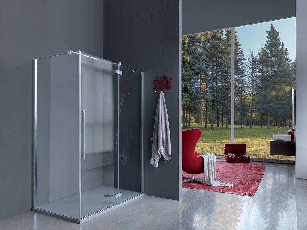 cabina doccia vetro in bagno