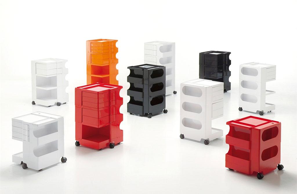 contenitori con ruote design joe colombo