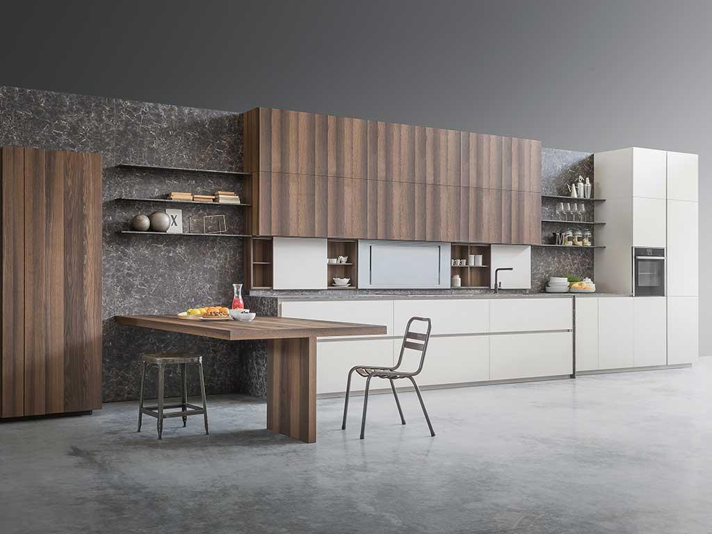 vista cucina legno