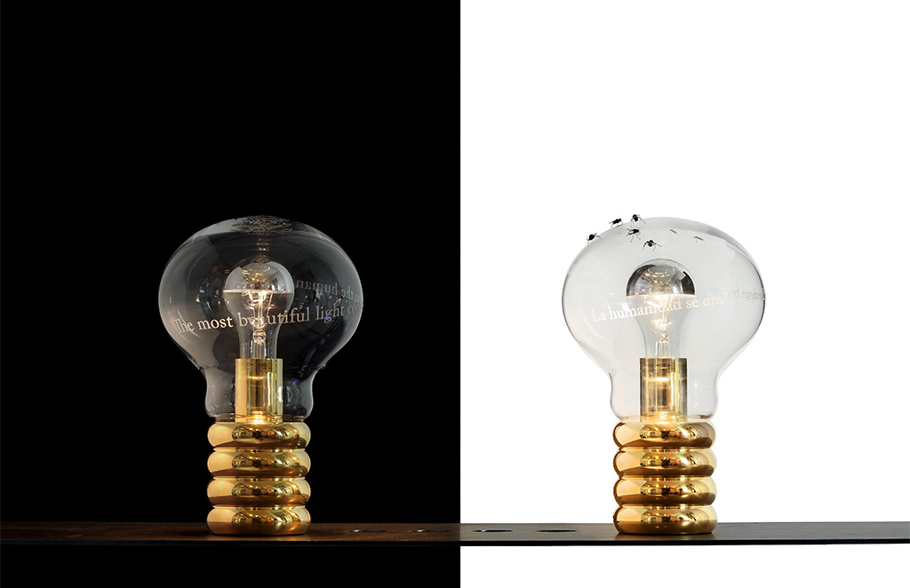 lampada da tavolo forma bulbo