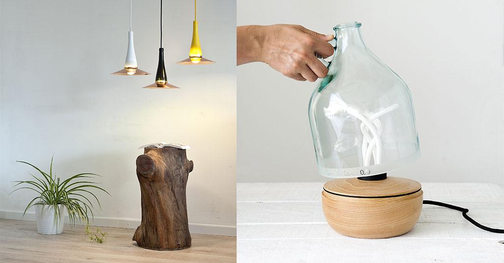 lampade sospese e lampada da tavolo