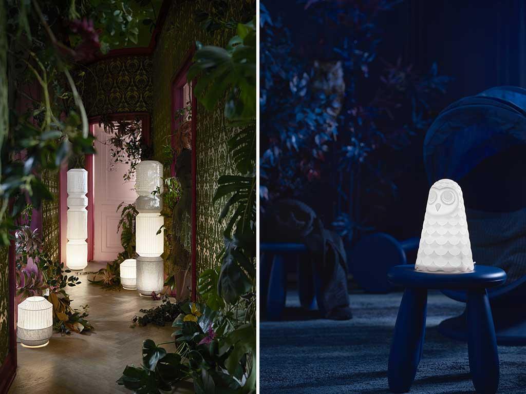 lampade da terra e tavolo
