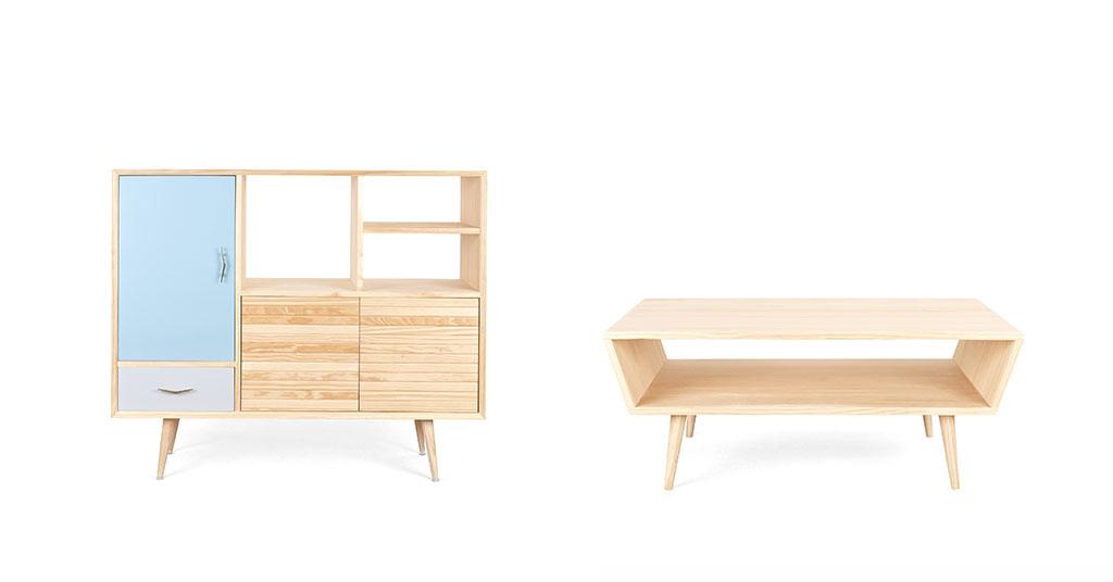 mobili design legno colorato
