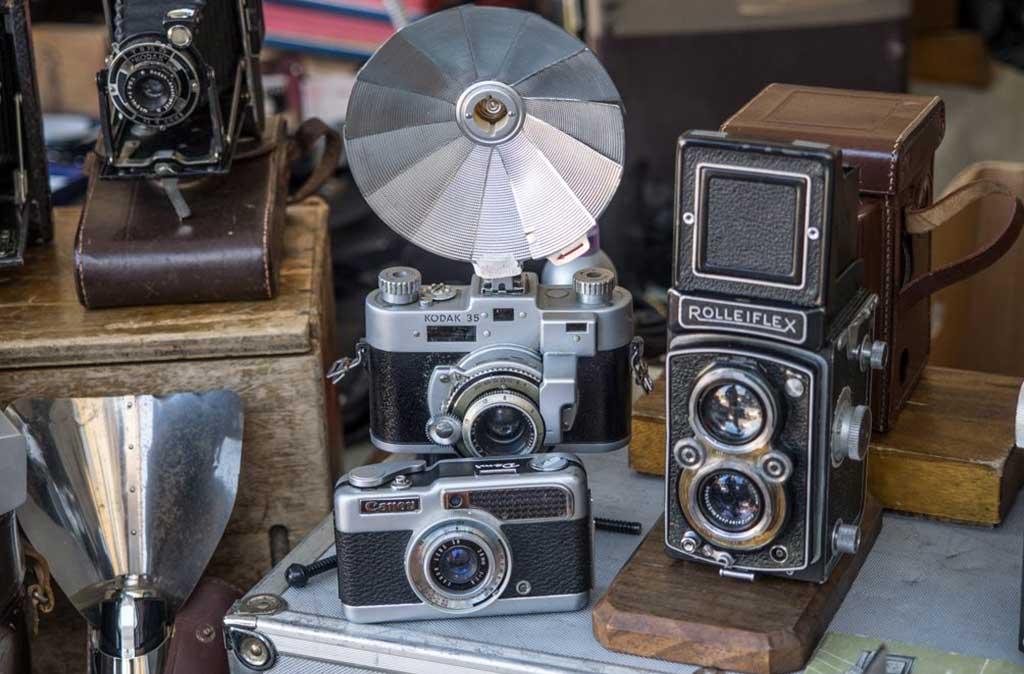 macchine fotografiche d'epoca a pellicola