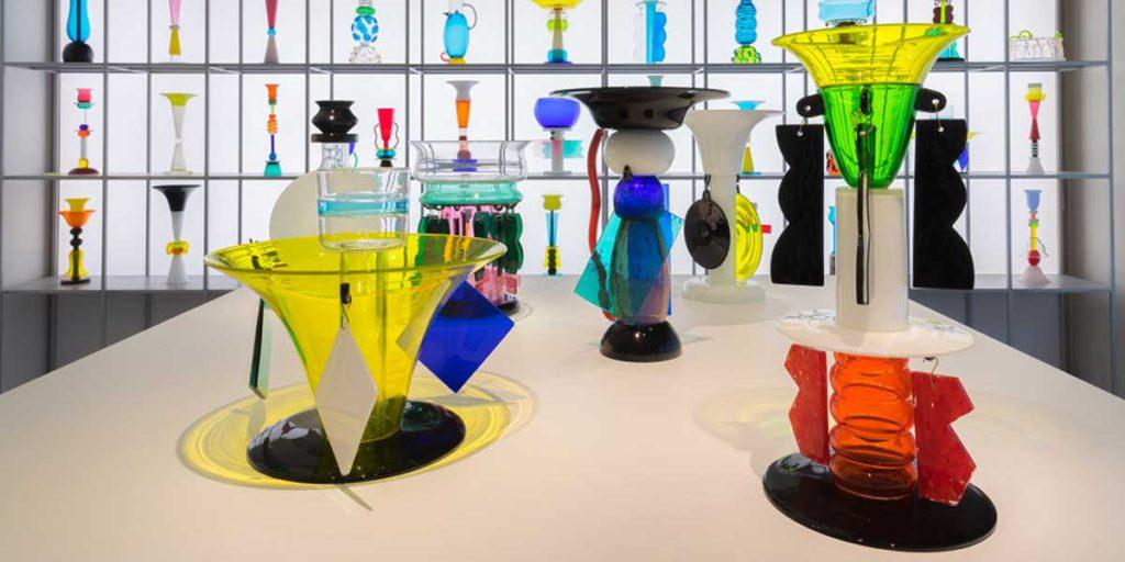 vasi in vetro di sottsass
