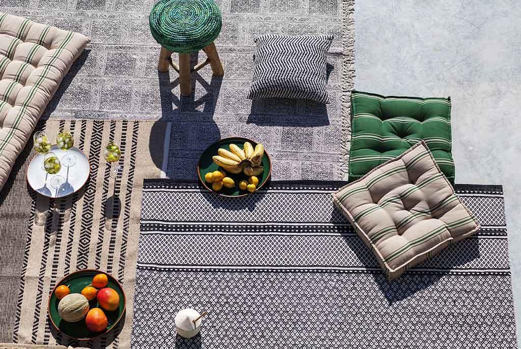cuscini e tappeti da esterno