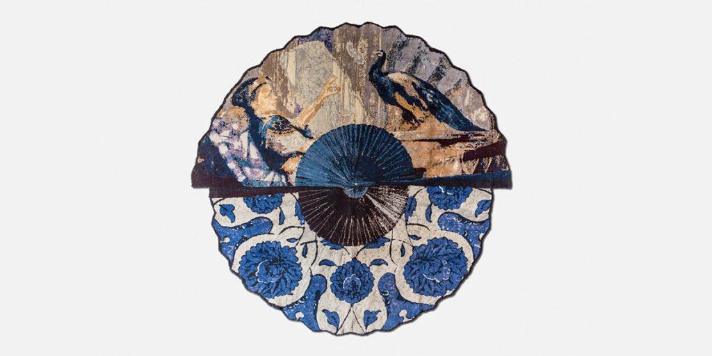 tappeto rotondo blu