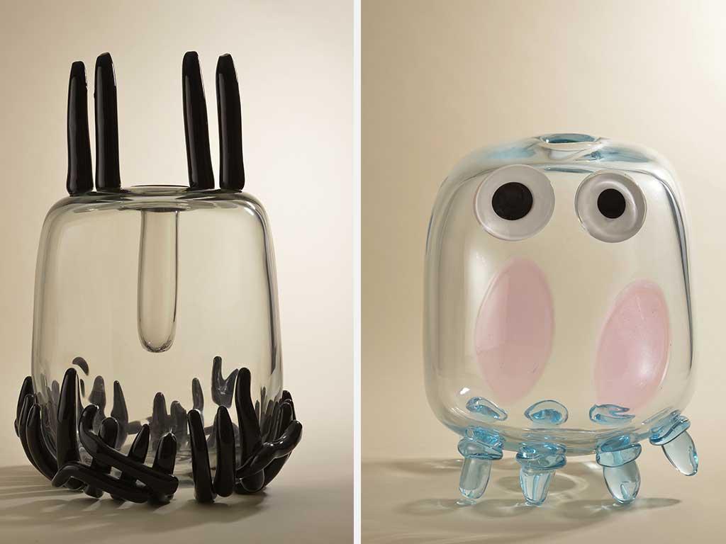 coppia di vasi di design sottsass