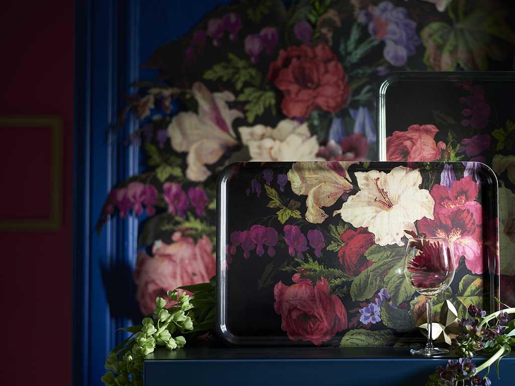 vassoio disegno fiori