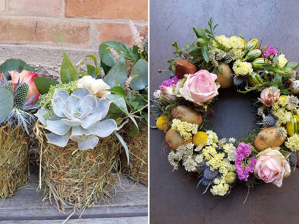 composizioni fiori corona patate