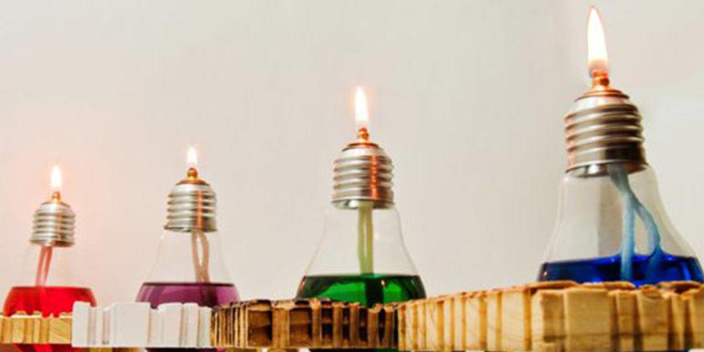 lampadine a olio colorato