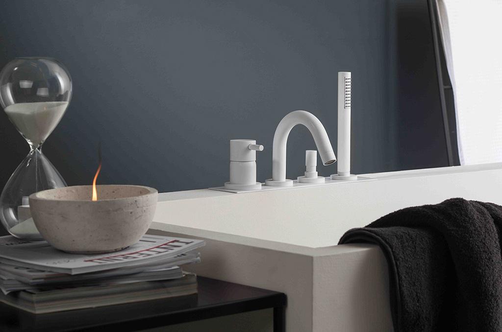 rubinetti bianco satinato bagno