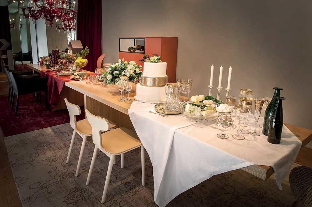 tavolo da pranzo candelabro