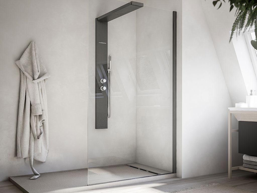doccia vetro trasparente