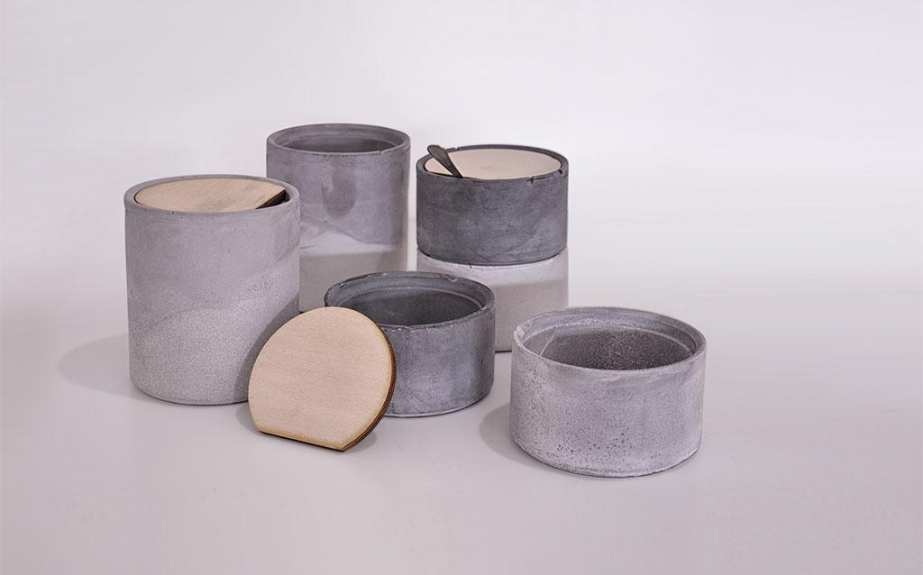 contenitori in cemento per la casa