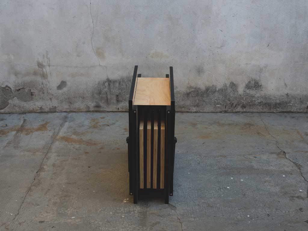 tavolo pieghevole legno chiuso