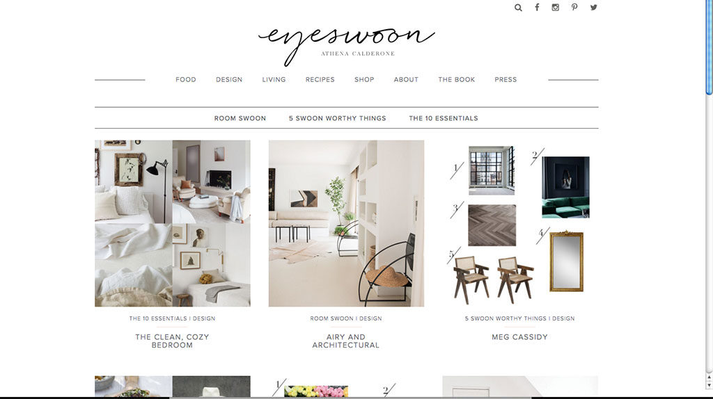 screenshot blog design