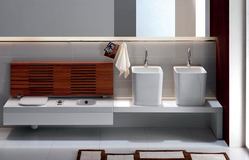 sanitari bagno con cassettone