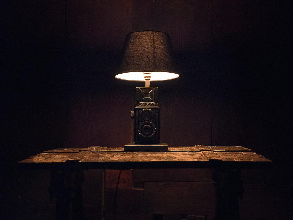 lampada comodino riciclo