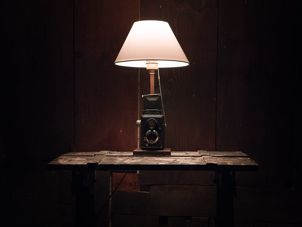 lampada tavolo riciclo