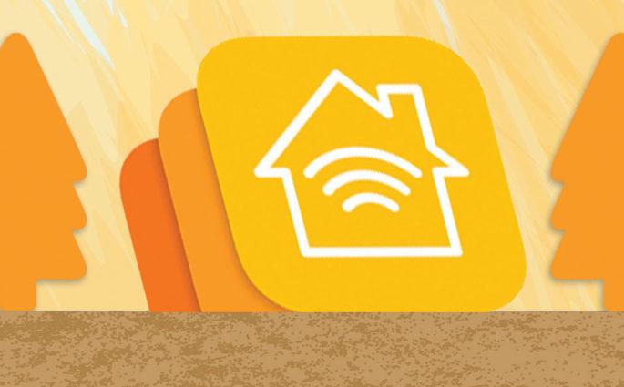 grafico stilizzato domotica giallo