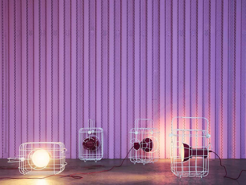 lampade da esterno accese