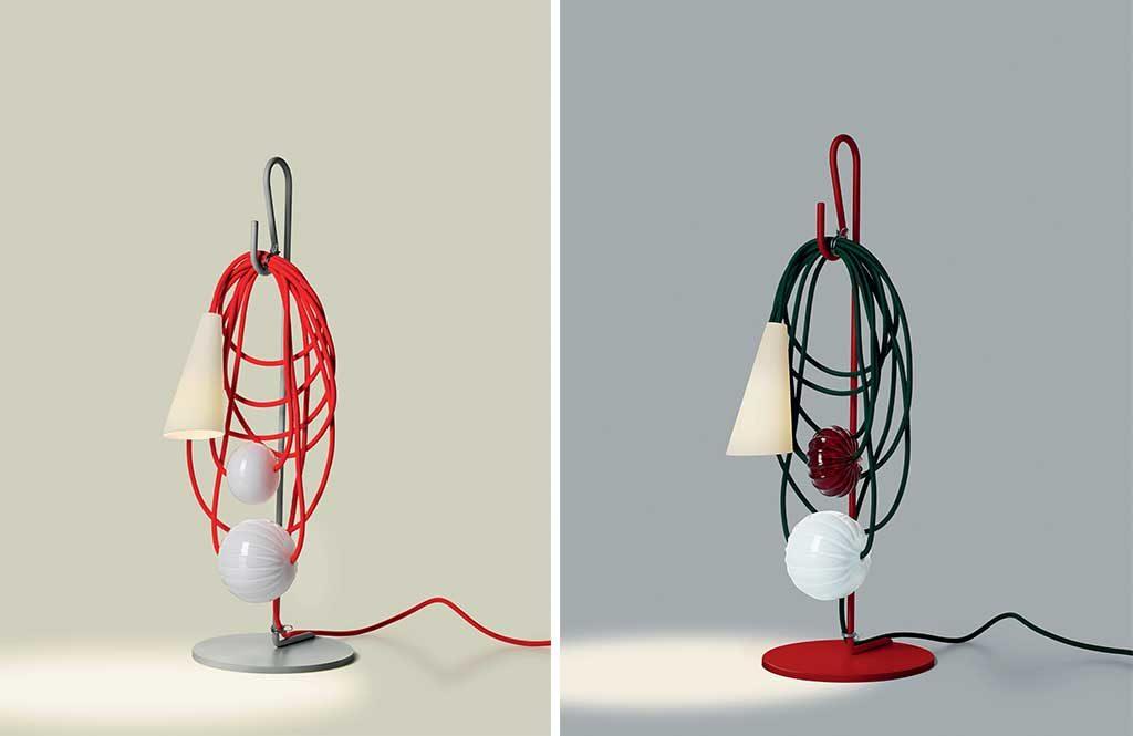 lampade da tavolo filo colorato