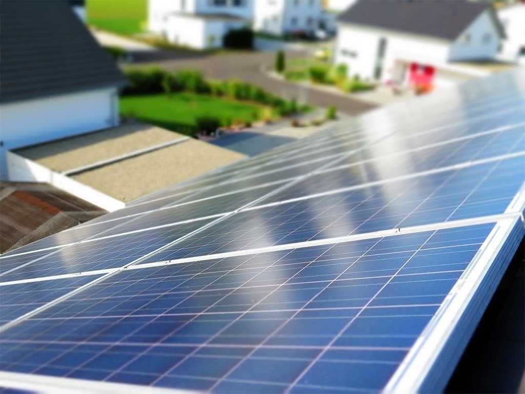 vista moduli fotovoltaici