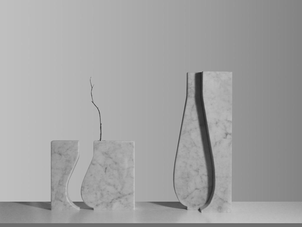 vasi in marmo di carrara