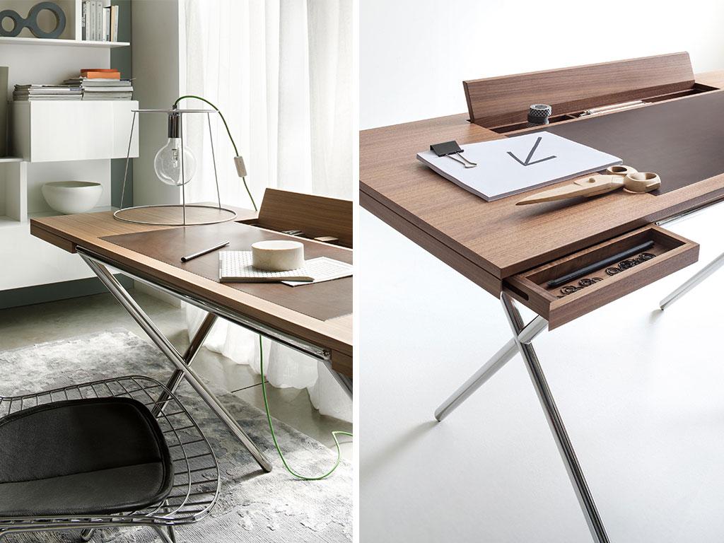 scrivania legno minimale