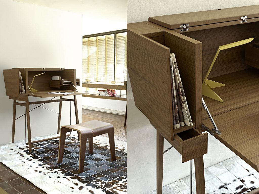 scrivania legno piano ribaltabile