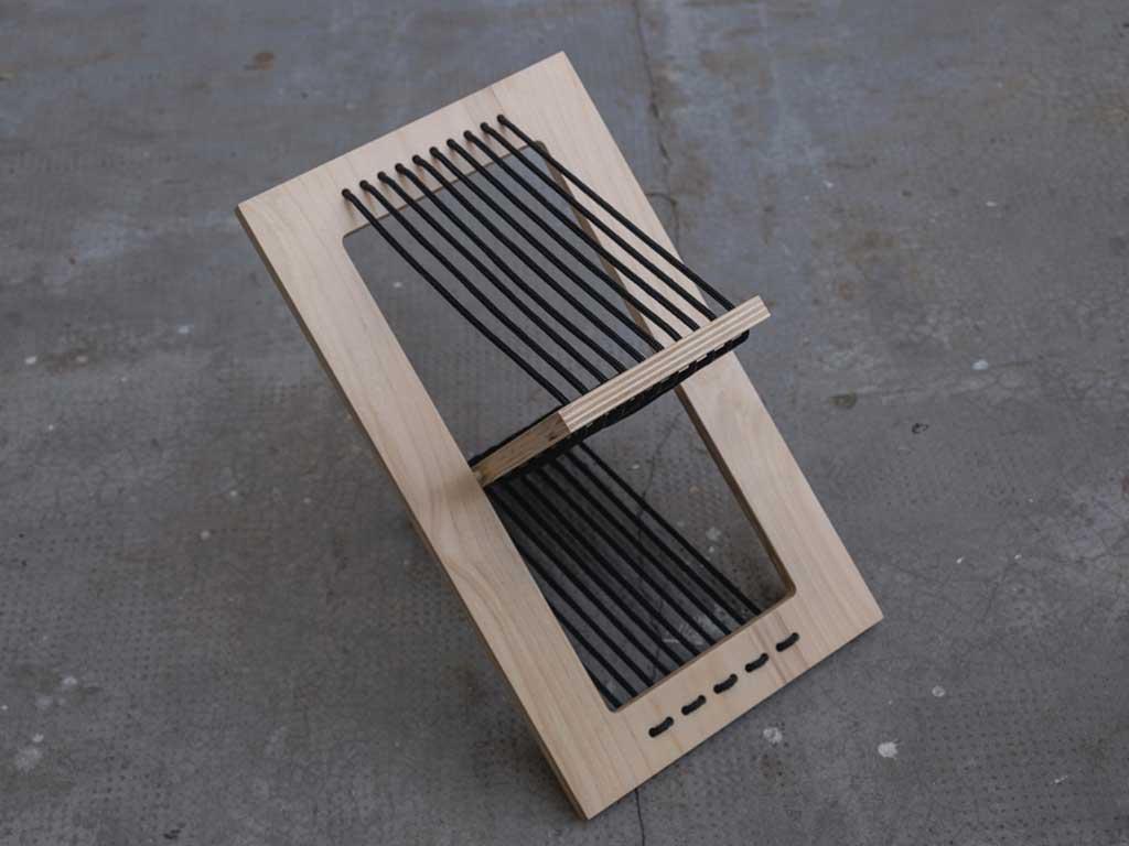 sedia pieghevole legno aperta