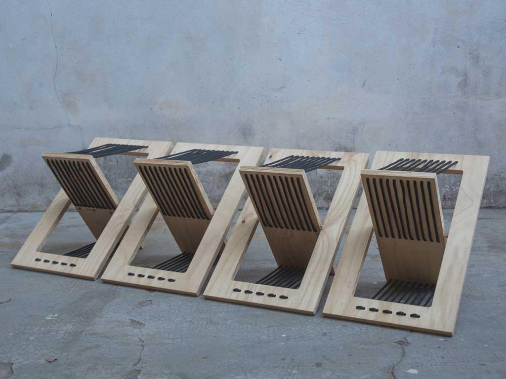 sedie pieghevoli aperte