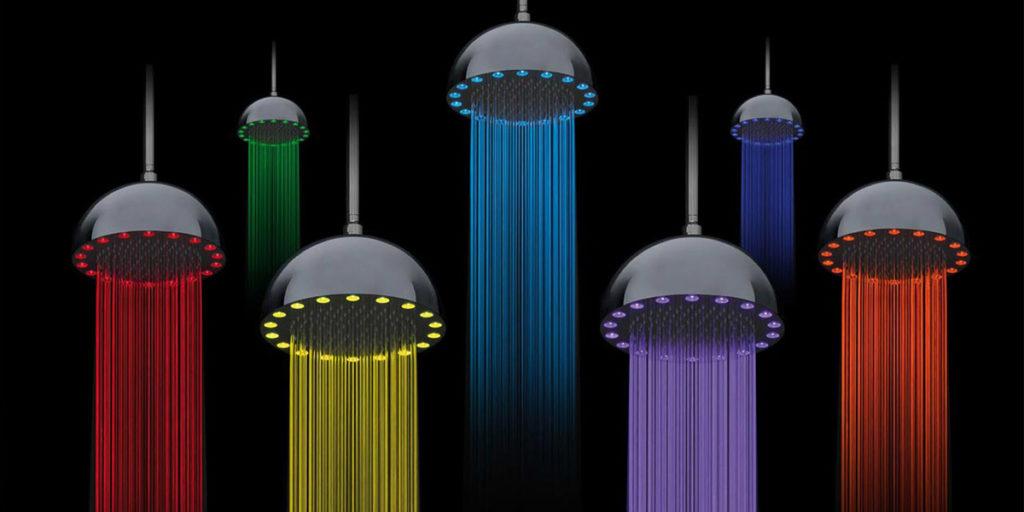soffioni doccia led colorati