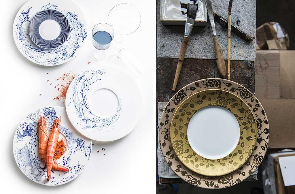piatti decorati a mano design