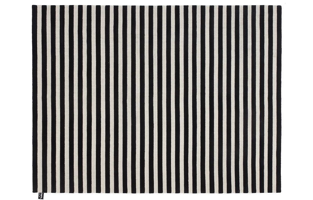tappeto righe bianco nero