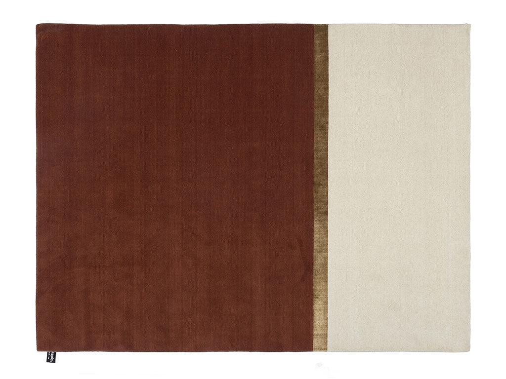 tappeto tre colori rosso beige marrone