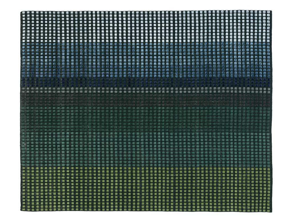 tappeto casa mosaico verde